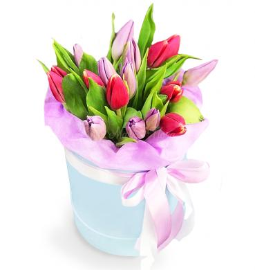 """Цветы в коробке """"Весенний сюрприз"""""""