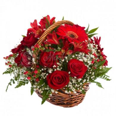 Корзина цветов «Афродита»